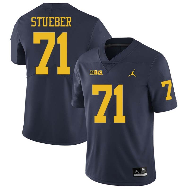 Jordan Brand Men #71 Andrew Stueber Michigan Wolverines College Football Jerseys Sale-Navy