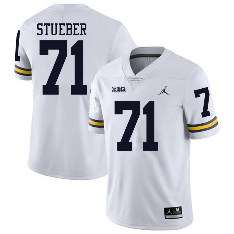 Jordan Brand Men #71 Andrew Stueber Michigan Wolverines College Football Jerseys Sale-White