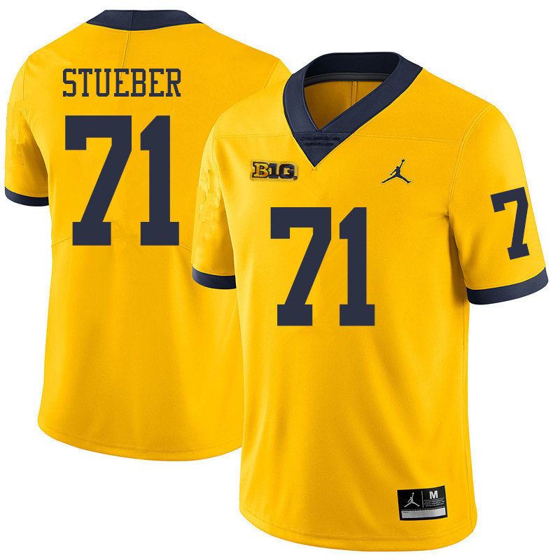 Jordan Brand Men #71 Andrew Stueber Michigan Wolverines College Football Jerseys Sale-Yellow