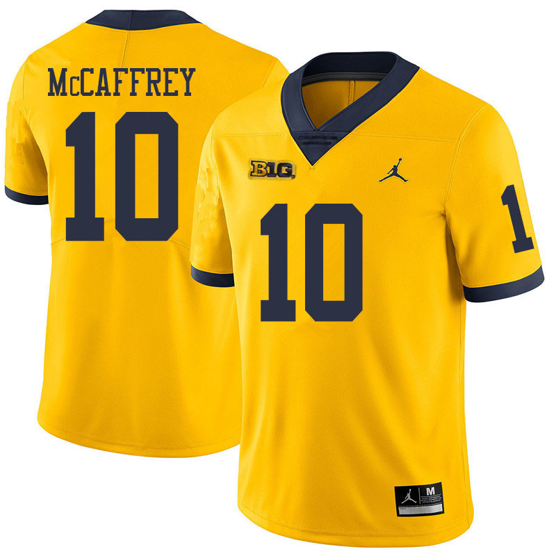 Jordan Brand Men #10 Dylan McCaffrey Michigan Wolverines College Football Jerseys Sale-Yellow