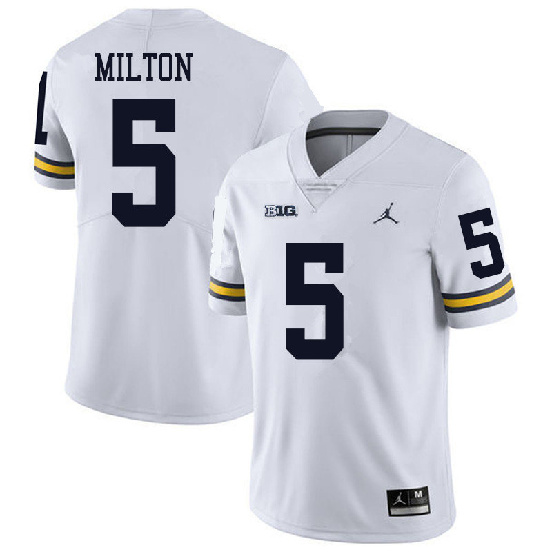Jordan Brand Men #5 Joe Milton Michigan Wolverines College Football Jerseys Sale-White