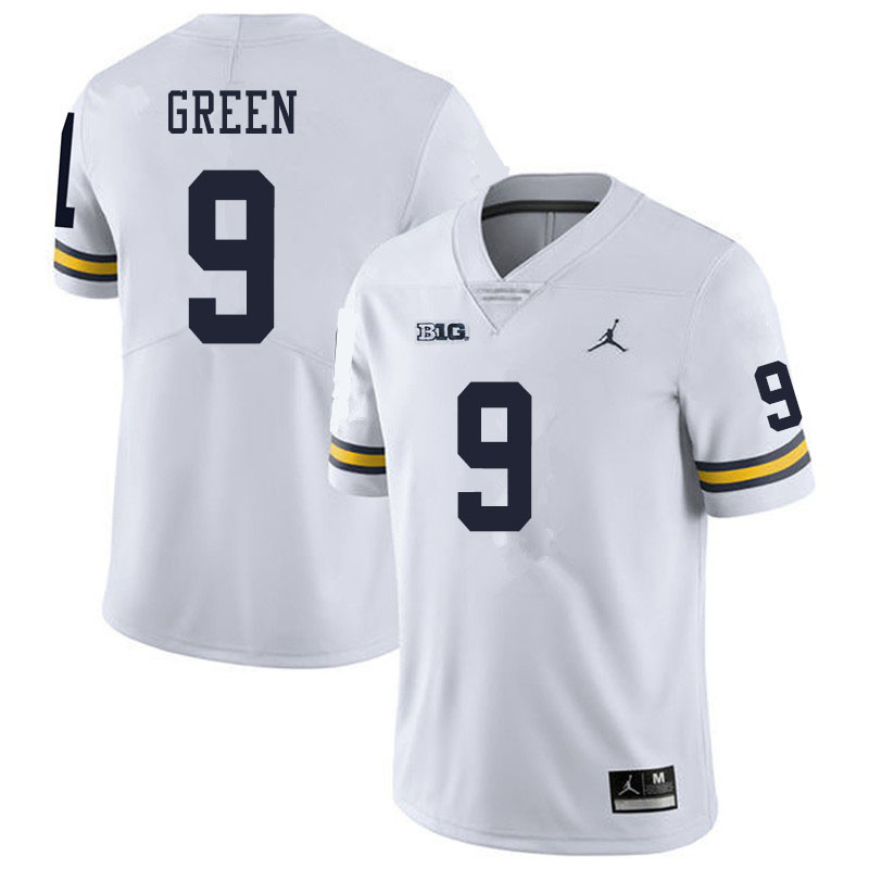 Men #9 Gemon Green Michigan Wolverines College Football Jerseys Sale-White