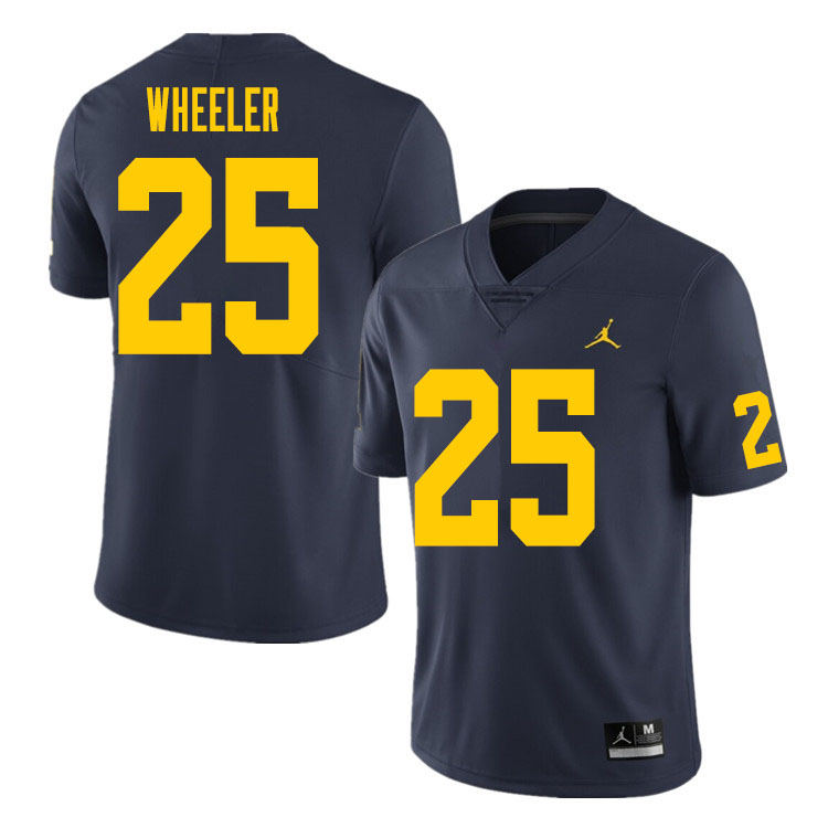 Men #25 Cornell Wheeler Michigan Wolverines College Football Jersey Sale-Navy