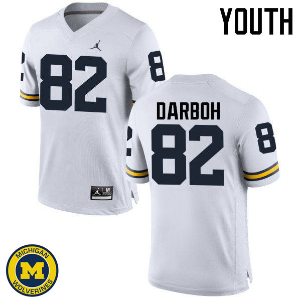 Youth Michigan Wolverines #82 Amara Darboh College Football Jerseys Sale-White