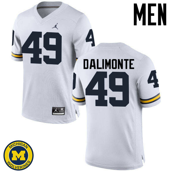 Men Michigan Wolverines #49 Anthony Dalimonte College Football Jerseys Sale-White