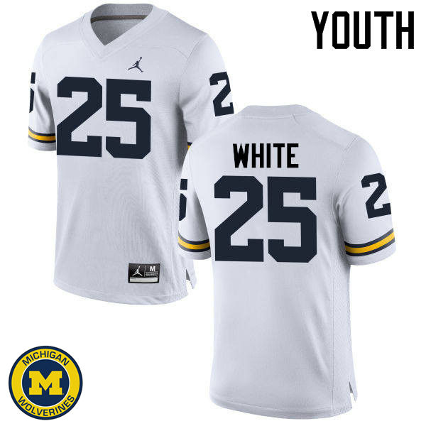 Youth Michigan Wolverines #25 Brendan White College Football Jerseys Sale-White