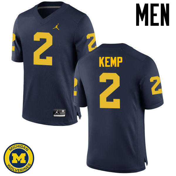 Men Michigan Wolverines #2 Carlo Kemp College Football Jerseys Sale-Navy