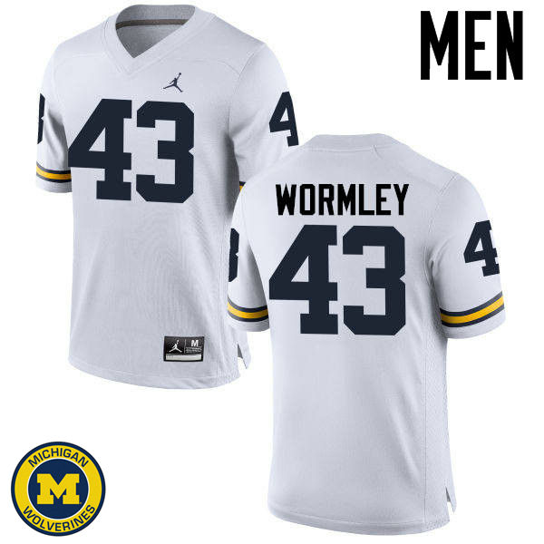 Men Michigan Wolverines #43 Chris Wormley College Football Jerseys Sale-White