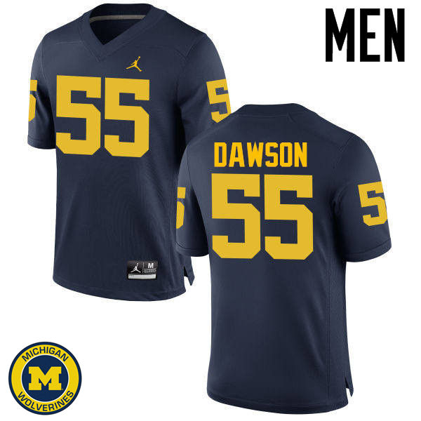 Men Michigan Wolverines #55 David Dawson College Football Jerseys Sale-Navy