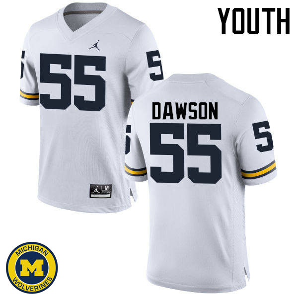 Youth Michigan Wolverines #55 David Dawson College Football Jerseys Sale-White