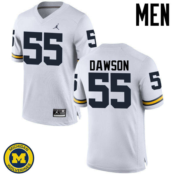 Men Michigan Wolverines #55 David Dawson College Football Jerseys Sale-White