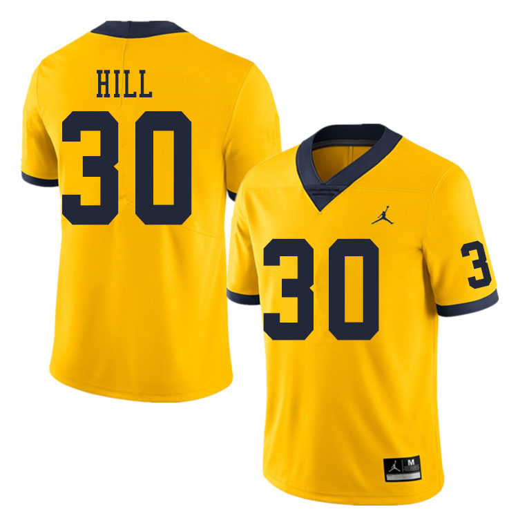 Men #30 Daxton Hill Michigan Wolverines College Football Jerseys Sale-Yellow