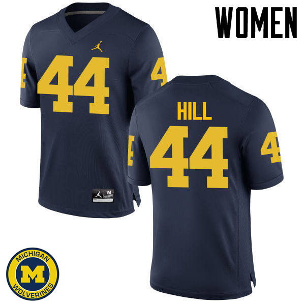 Women Michigan Wolverines #44 Delano Hill College Football Jerseys Sale-Navy
