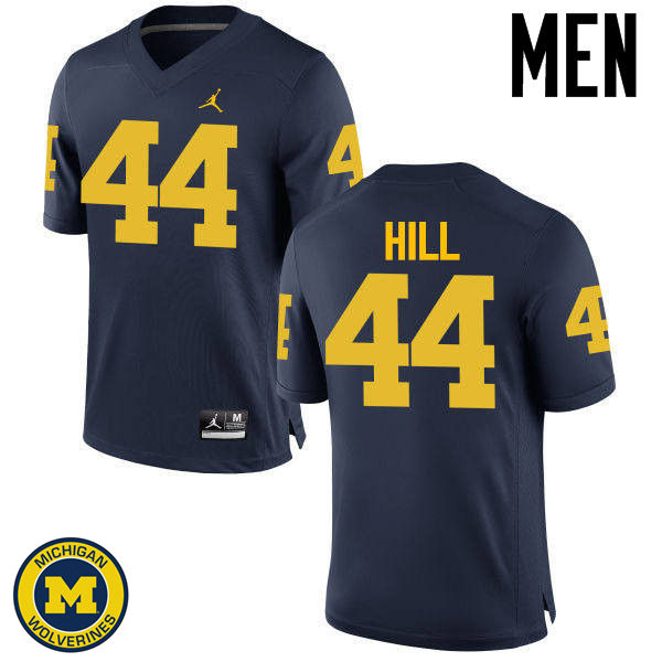 Men Michigan Wolverines #44 Delano Hill College Football Jerseys Sale-Navy