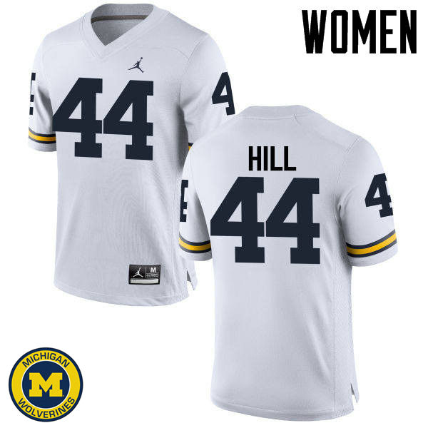 Women Michigan Wolverines #44 Delano Hill College Football Jerseys Sale-White