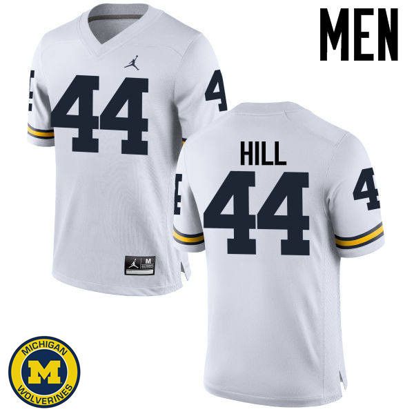Men Michigan Wolverines #44 Delano Hill College Football Jerseys Sale-White