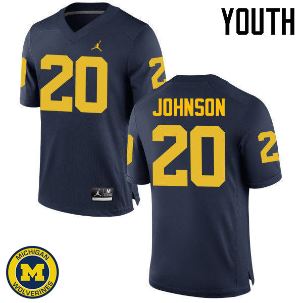 Youth Michigan Wolverines #20 Drake Johnson College Football Jerseys Sale-Navy