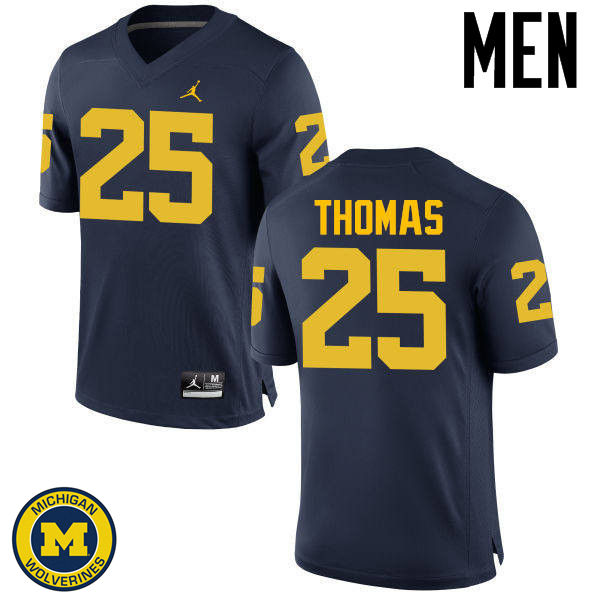 Men Michigan Wolverines #25 Dymonte Thomas College Football Jerseys Sale-Navy