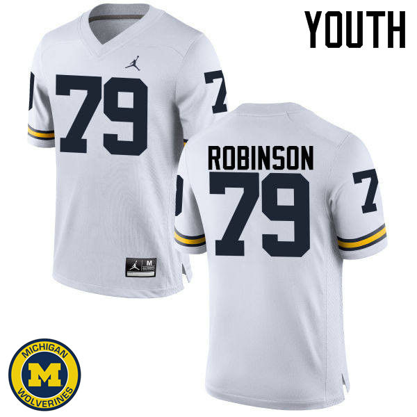 Youth Michigan Wolverines #79 Greg Robinson College Football Jerseys Sale-White