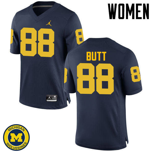 Women Michigan Wolverines #88 Jake Butt College Football Jerseys Sale-Navy