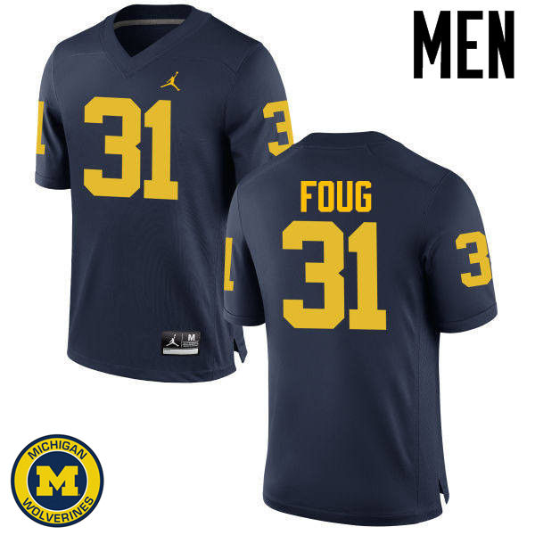 Men Michigan Wolverines #31 James Foug College Football Jerseys Sale-Navy