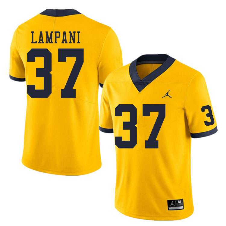 Men #37 Jonathan Lampani Michigan Wolverines College Football Jerseys Sale-Yellow