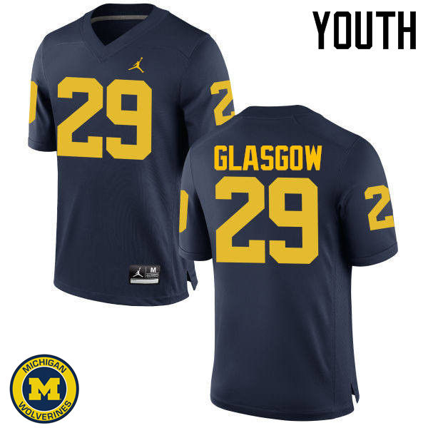 Youth Michigan Wolverines #29 Jordan Glasgow College Football Jerseys Sale-Navy