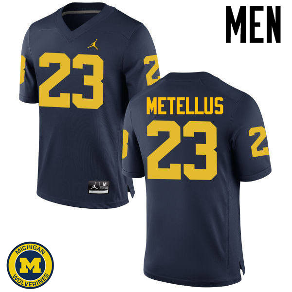 Men Michigan Wolverines #23 Josh Metellus College Football Jerseys Sale-Navy