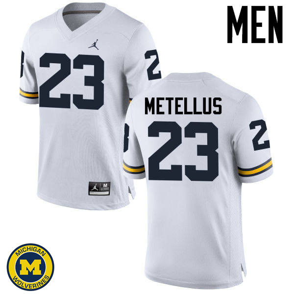 Men Michigan Wolverines #23 Josh Metellus College Football Jerseys Sale-White