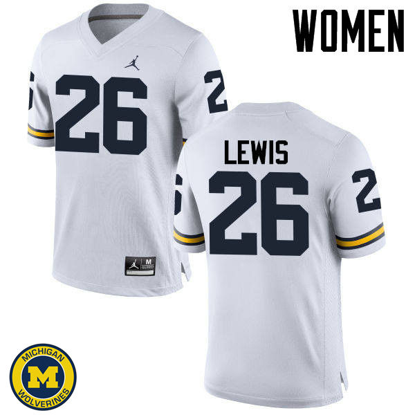 Women Michigan Wolverines #26 Jourdan Lewis College Football Jerseys Sale-White