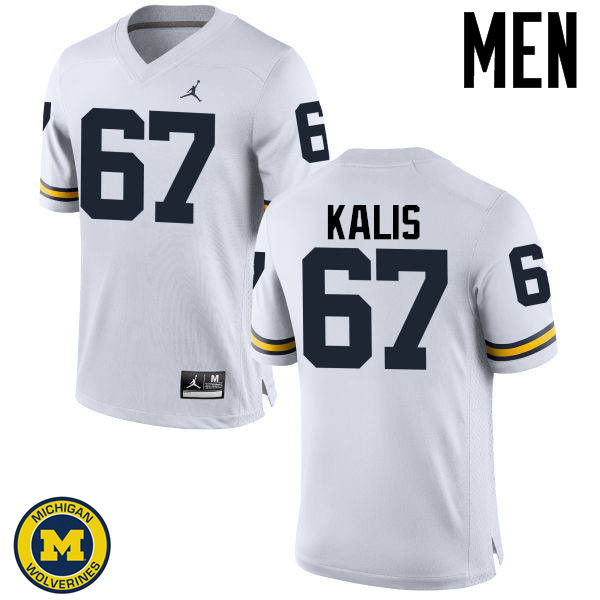 Men Michigan Wolverines #67 Kyle Kalis College Football Jerseys Sale-White