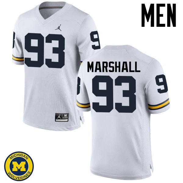 Men Michigan Wolverines #93 Lawrence Marshall College Football Jerseys Sale-White