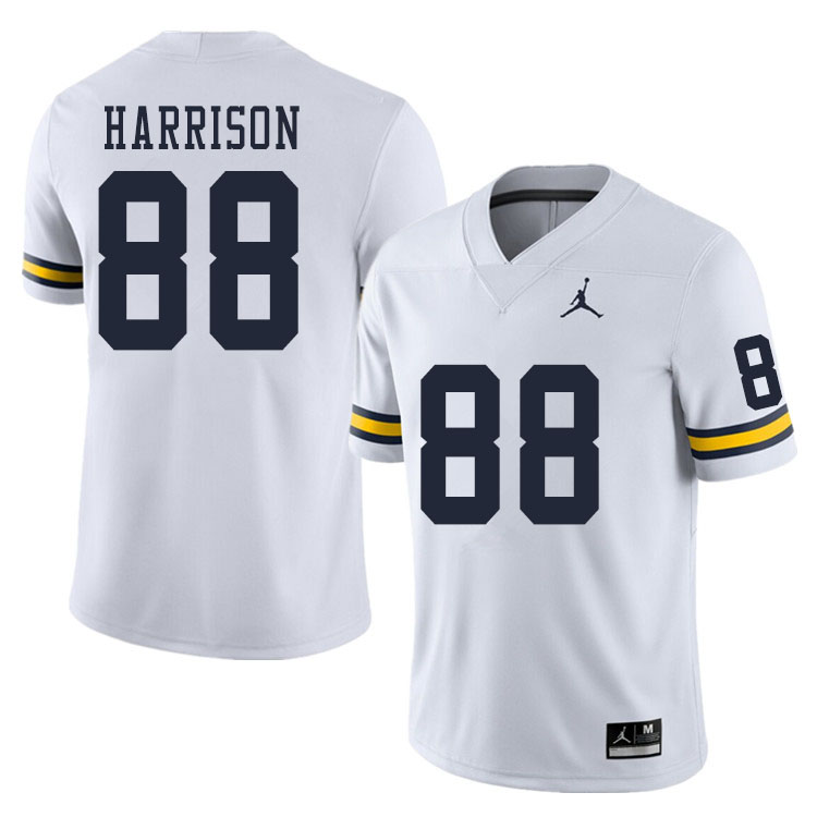 Men #88 Mathew Harrison Michigan Wolverines College Football Jerseys Sale-White