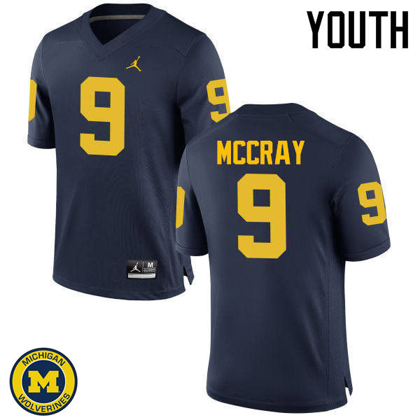 Youth Michigan Wolverines #9 Mike McCray College Football Jerseys Sale-Navy