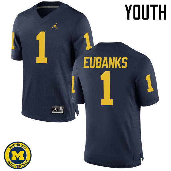 Youth Michigan Wolverines #1 Nick Eubanks College Football Jerseys Sale-Navy