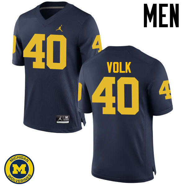 Men Michigan Wolverines #40 Nick Volk College Football Jerseys Sale-Navy