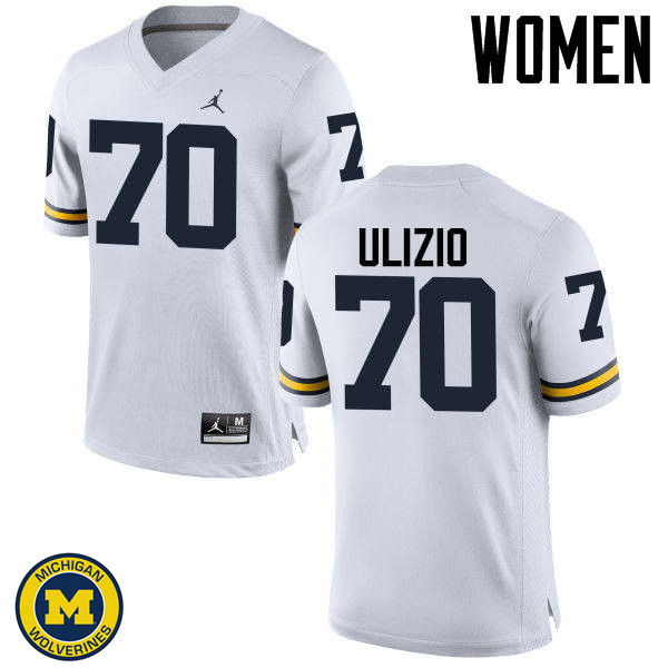 Women Michigan Wolverines #70 Nolan Ulizio College Football Jerseys Sale-White