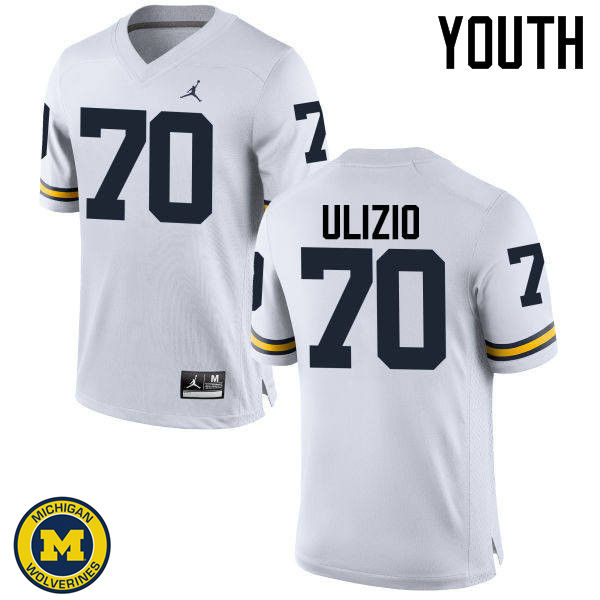Youth Michigan Wolverines #70 Nolan Ulizio College Football Jerseys Sale-White