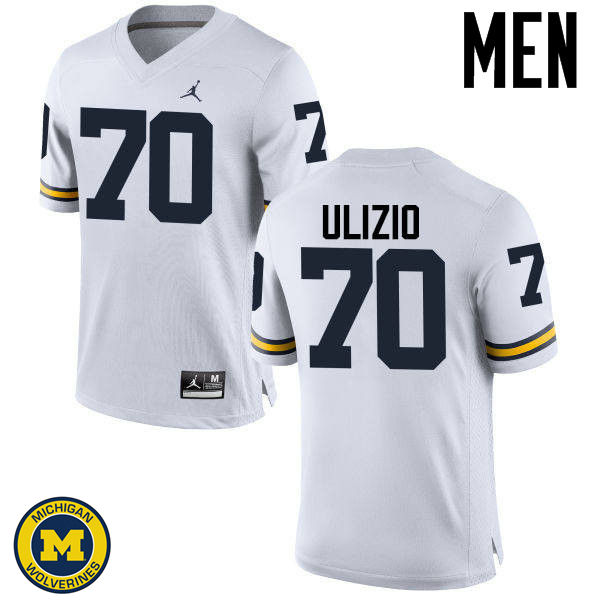 Men Michigan Wolverines #70 Nolan Ulizio College Football Jerseys Sale-White