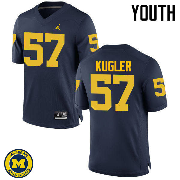 Youth Michigan Wolverines #57 Patrick Kugler College Football Jerseys Sale-Navy