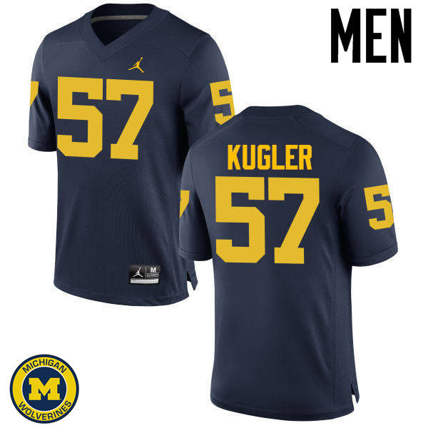 Men Michigan Wolverines #57 Patrick Kugler College Football Jerseys Sale-Navy