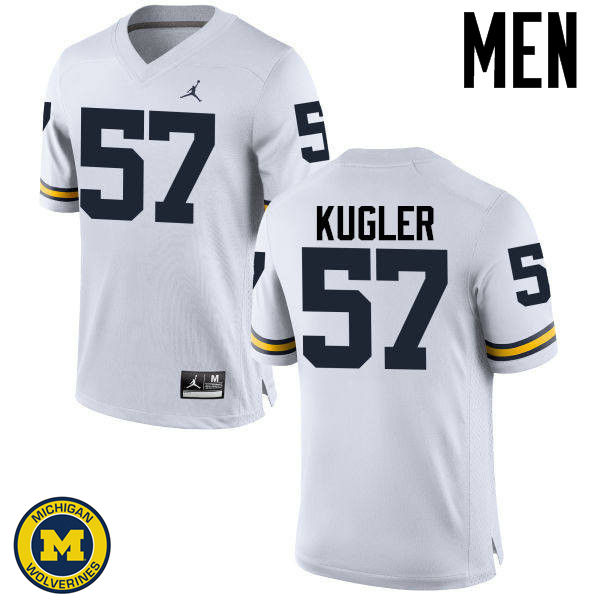 Men Michigan Wolverines #57 Patrick Kugler College Football Jerseys Sale-White