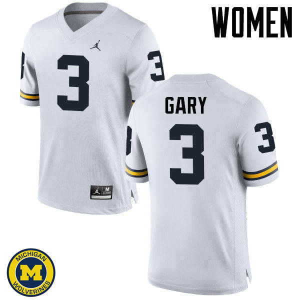 Women Michigan Wolverines #3 Rashan Gary College Football Jerseys Sale-White