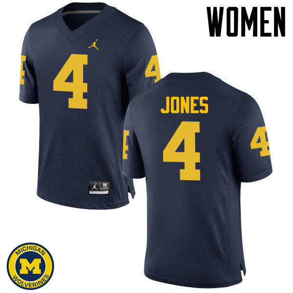 Women Michigan Wolverines #4 Reuben Jones College Football Jerseys Sale-Navy
