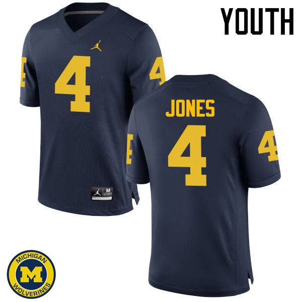 Youth Michigan Wolverines #4 Reuben Jones College Football Jerseys Sale-Navy