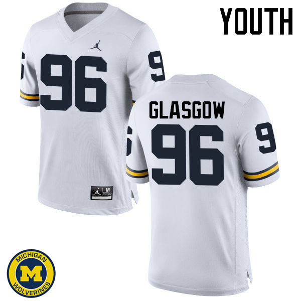 Youth Michigan Wolverines #96 Ryan Glasgow College Football Jerseys Sale-White