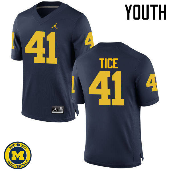 Youth Michigan Wolverines #41 Ryan Tice College Football Jerseys Sale-Navy