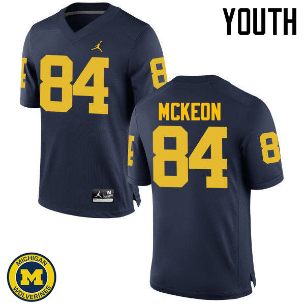 Youth Michigan Wolverines #84 Sean McKeon College Football Jerseys Sale-Navy