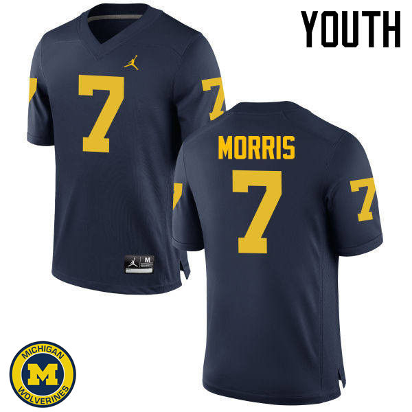 Youth Michigan Wolverines #7 Shane Morris College Football Jerseys Sale-Navy