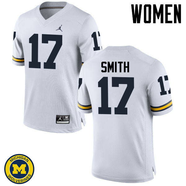 Women Michigan Wolverines #17 Simeon Smith College Football Jerseys Sale-White
